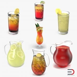 3D model Beverages Collection