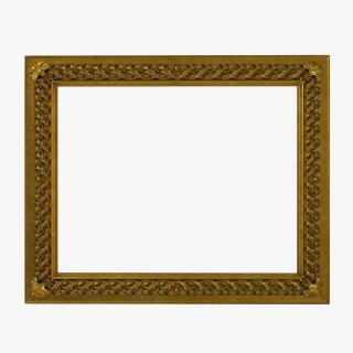 3D Baroque Picture Frame 8 model
