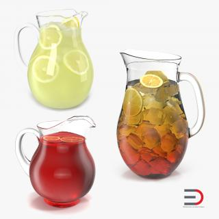 Pitchers Collection 3D model