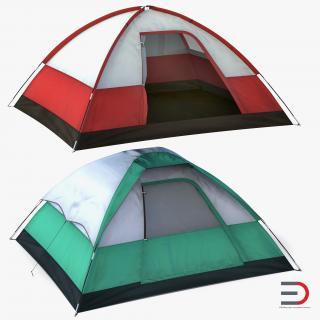 Camping Tents Set 3D