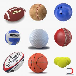 Sport Balls 3D Models Collection 3 3D model