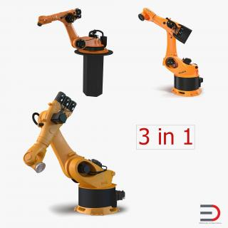 3D Kuka Robots Rigged Collection 4