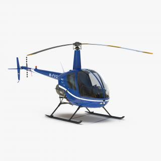 3D Helicopter Robinson R22 model
