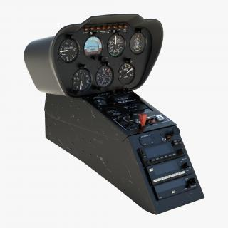 Light Helicopter Control Panel 2 3D