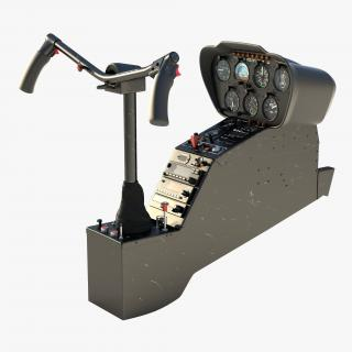3D model Light Helicopter Control Panel