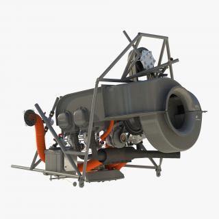 3D Light Helicopter Engine model