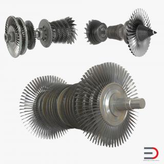 3D Turbines Collection 2