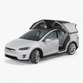 3D model Tesla Model X Rigged