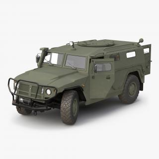 Russian Mobility Vehicle GAZ Tigr M Rigged 3D