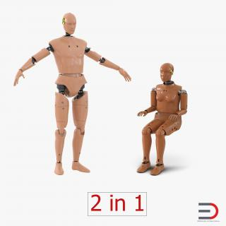Crash Test Dummies Collection 3D model