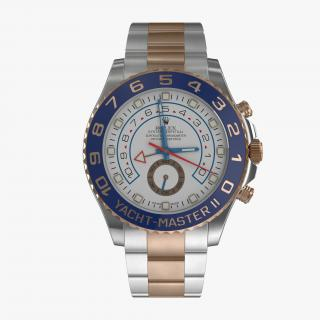 3D model Rolex Yachtmaster II Steel and Gold