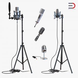 3D Studio Microphones Collection 2