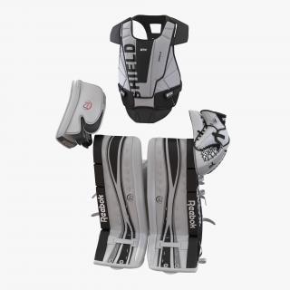 3D Hockey Goalie Protection Kit model