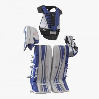 3D Hockey Goalie Protection Kit Blue model