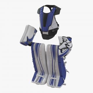 3D Hockey Goalie Protection Kit Generic Blue