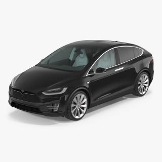 Tesla Model X Simple Interior 3D model