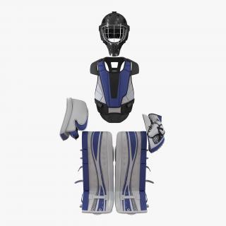 3D Hockey Goalie Protection Kit Generic Blue 2 model