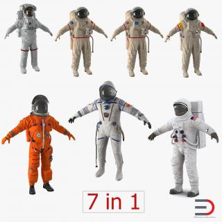 Space Suits Collection 3 3D model