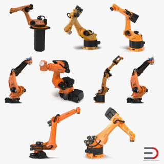 3D Kuka Robots Rigged Collection 6