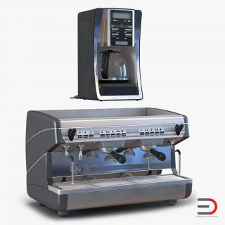3D Coffee Machines Collection