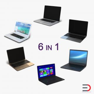 3D Generic Laptops Collection 2 model