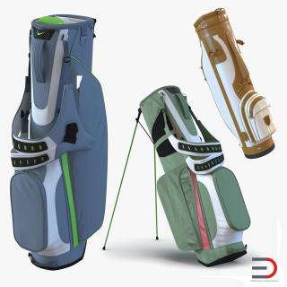 Golf Bags Collection 3 3D