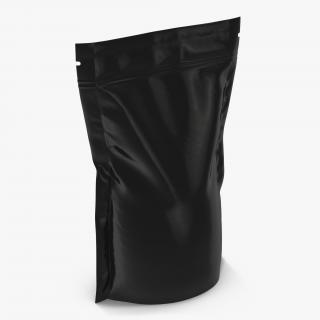 3D model Food Vacuum Sealed Bag 2 Black
