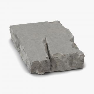 Concrete Chunk 3D model