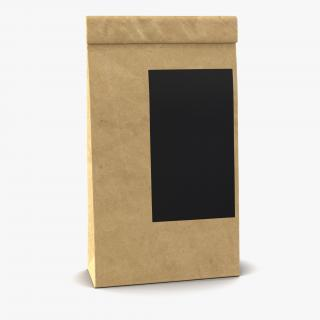 3D Ground Coffee Bag Paper model