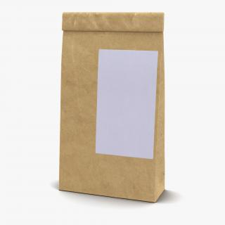 3D model Ground Coffee Bag Paper 2