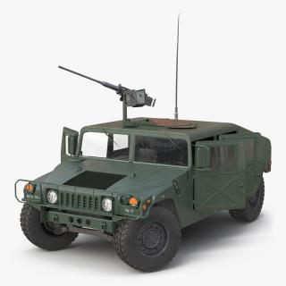 3D High Mobility Multipurpose Wheeled Vehicle Humvee Rigged