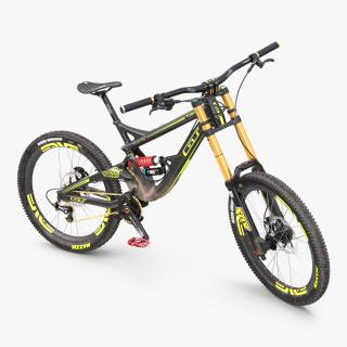 3D Mountain Bike GT Fury Rigged model