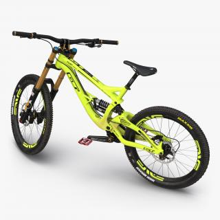 Mountain Bike GT Fury Green Rigged 3D model
