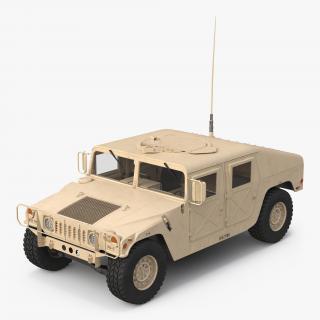 3D Humvee Desert model