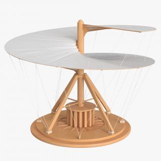 3D model Leonardo Da Vinci Aerial Screw