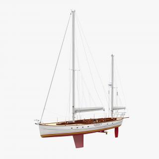 3D model Sailing Yacht 2