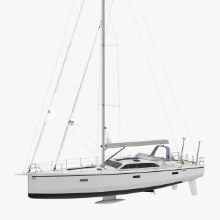 Offshore Sailing Yacht 3D