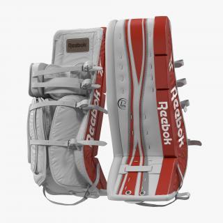 Hockey Goalie Leg Pads Reebok 3D model