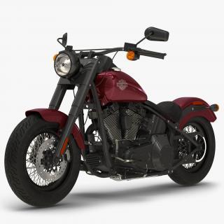 Harley Davidson Softail Slim 2016 Red 3D