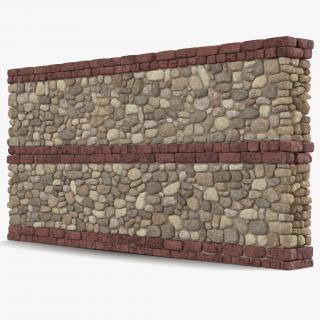 Wall Section Greco Roman 3D model
