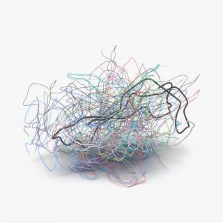 3D Pile of Colorful Plastic Cables