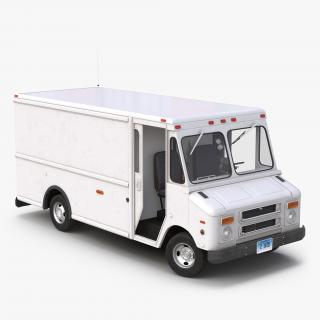 Post Office Truck Rigged 3D model