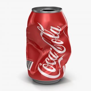 3D Crushed Soda Can Coca Cola