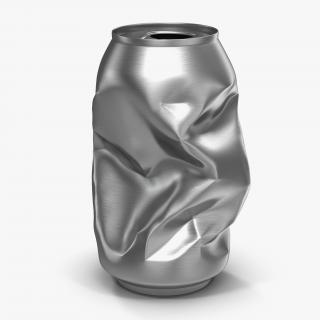 3D Crushed Soda Can
