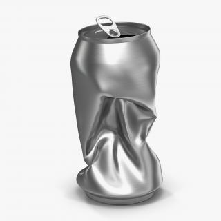 3D Crushed Soda Can 2 model