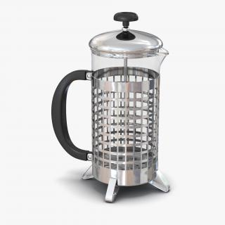French Press 3 3D model