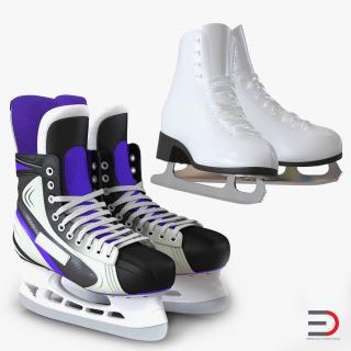 3D Ice Skates Collection