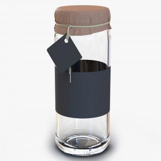 3D Glass Jar 4