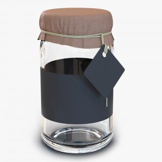 3D Glass Jar 2