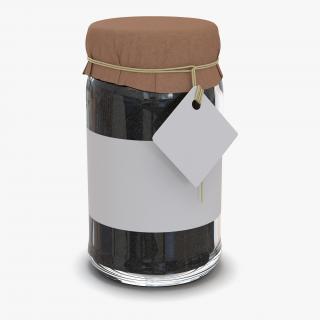 Black Tea In Glass Jar 2 3D model